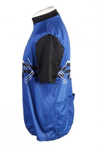 Vintage Marc Kostner Unisex Cycling Jersey Short Sleeve Half Zip With Back Pockets M Blue CW0745-131913
