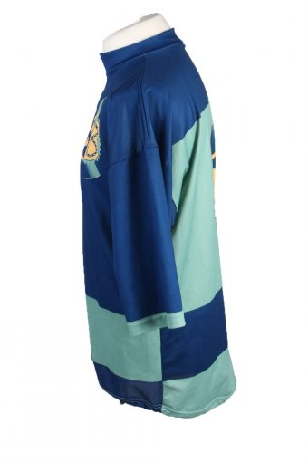 Vintage Bike O'bello Unisex Cycling Jersey Short Sleeve Half Zip With Back Pockets XXL Blue CW0749-131933