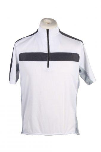 Cycling Shirt Jersey 90s Retro White M