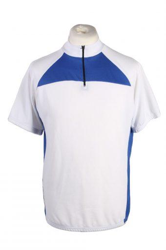 Cycling Shirt Jersey 90s Retro White L