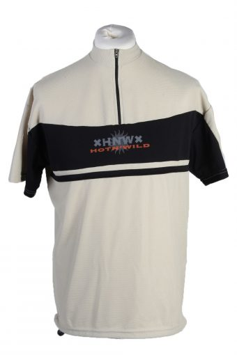 Cycling Shirt Jersey 90s Retro Beige L
