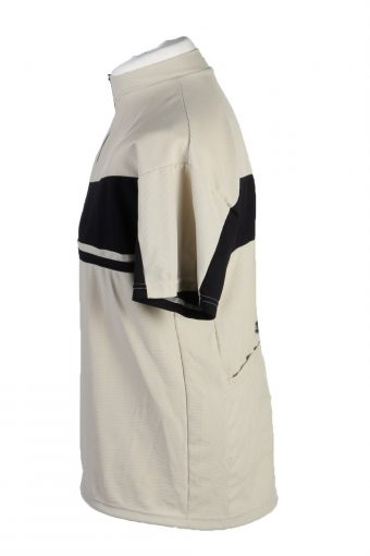 Vintage Hot N Wild Unisex Cycling Jersey Short Sleeve Half Zip With Back Pockets M Cream CW0758-131978
