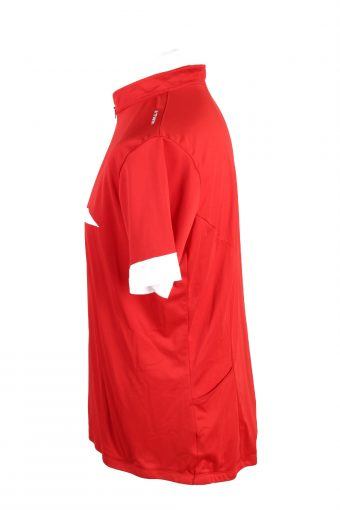Vintage Oxylane Unisex Cycling Jersey Short Sleeve Half Zip With Back Pockets 2XL (EU) XL (US) Red CW0759-131983