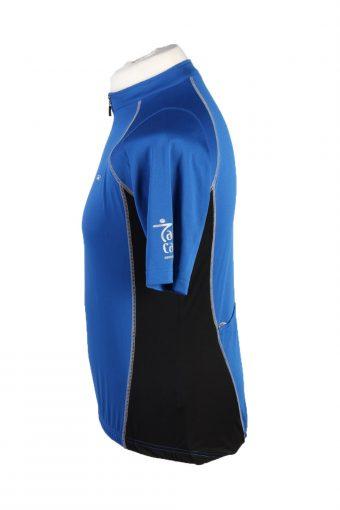 Vintage Agu Bike Wear Unisex Cycling Jersey Short Sleeve Half Zip With Back Pockets M Blue CW0762-131998