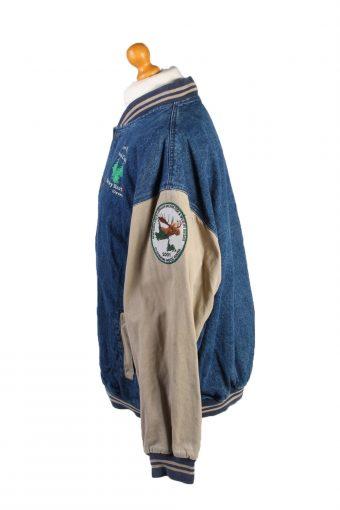 Vintage Lee Four Pines Huntin' Club Unisex Denim Jacket XXL Mid Blue -DJ1536-132182