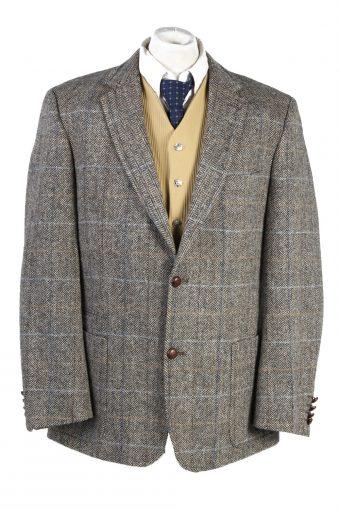 Harris Tweed Barutti Windowpane Blazer Jacket XL