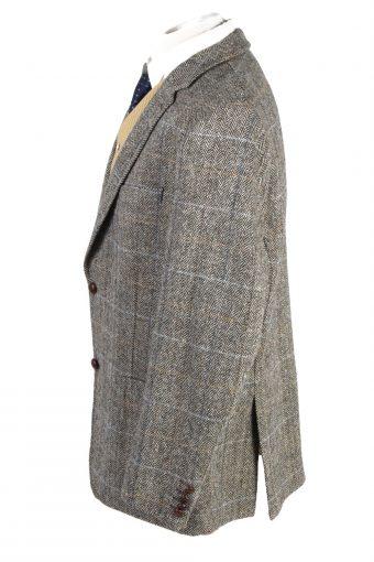 "Vintage Harris Tweed Barutti Classic Windowpane Blazer Jacket Chest 47"" Multi HT2805-130963"