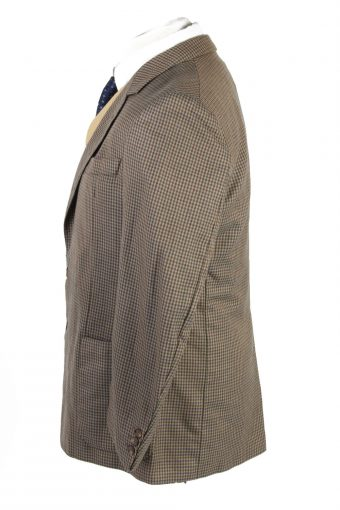 "Vintage Tweed Burberry Classic Blazer Jacket Chest 44"" Multi HT2828-131055"