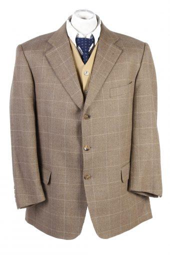 Burberry Blazer Jacket Tweed Windowpane Cream XXL