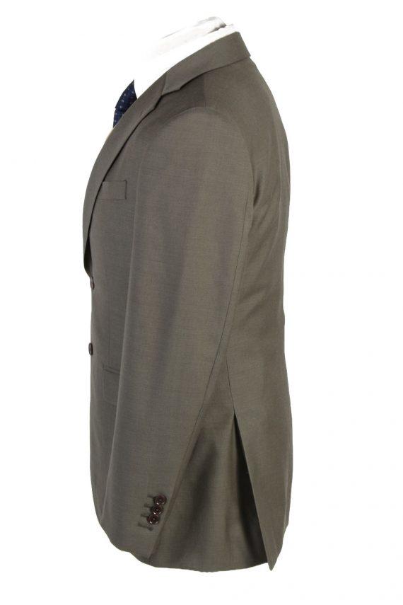 Mens Blazer Jacket Lined 100% Wool Slim Fit Size 38R Sage Green HT2837-131094