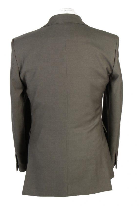 Mens Blazer Jacket Lined 100% Wool Slim Fit Size 38R Sage Green HT2837-131095