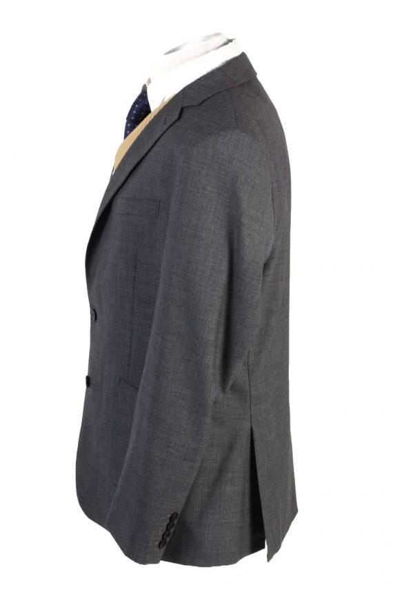 Mens Blazer Jacket Lined 100% Wool Slim Fit Size 44R Grey HT2839-131102