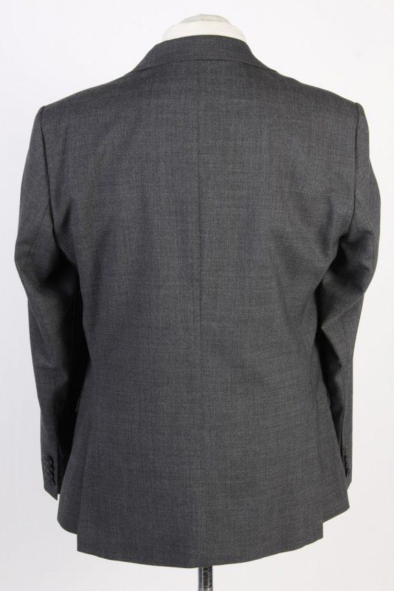 Mens Blazer Jacket Lined 100% Wool Slim Fit Size 44R Grey HT2839-131103
