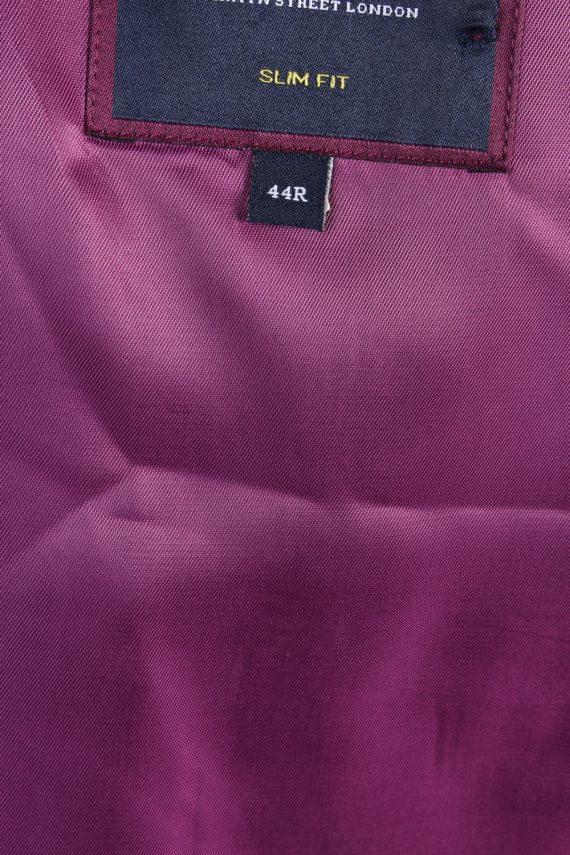 Mens Blazer Jacket Lined 100% Wool Slim Fit Size 44R Grey HT2839-131104