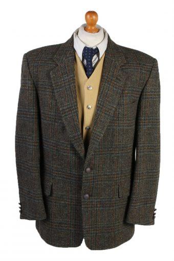 Harris Tweed Blazer Jacket Classic Windowpane Green XL