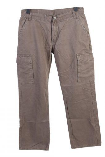 Cargo Trousers Vintage Combat Work Outdoor Comfort Grey W32 L31