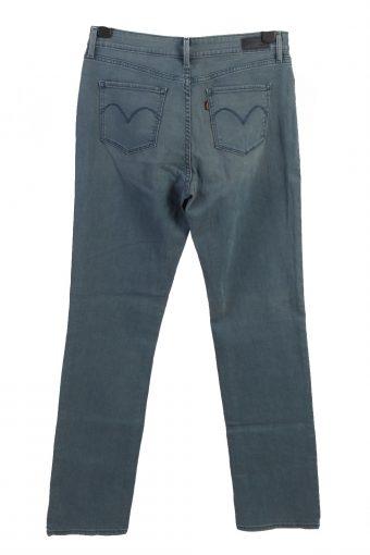 Vintage Levis Demi Curve Mid Wasit Womens Denim Jeans W33 L34 Turquoise J4964-130104