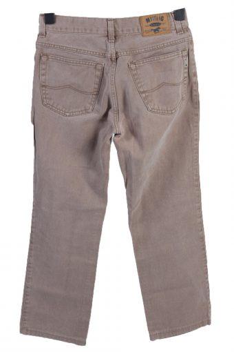 Vintage Mustang Mid Waist Straight Leg Womens Denim Jeans W30 L26 Light Brown J4965-130108