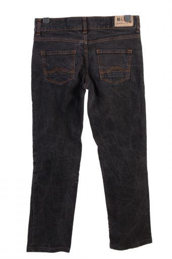 Vintage Mustang Emily Mid Wasit Straight Womens Denim Jeans W33 L31 Black J4967-130116