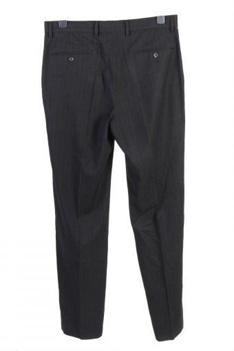 Vintage Calvin Klein Mens Slacks Suit Pants Trousers W35 L34 Black J5002-130384