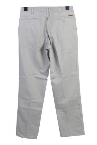 Vintage Mustang Club High Waist Unisex Chinos Trousers Jeans W32 L33 Light Grey J5013-130428