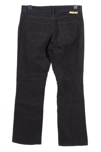 Vintage Mustang Sissy Mid Waist Striped Womens Lightweight Jeans W34 L33 Black J5028-130488