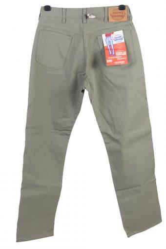 Vintage Globe Tornado High Waist Regular Straight Womens Denim Jeans W32 L32 Light Green J5029-130492