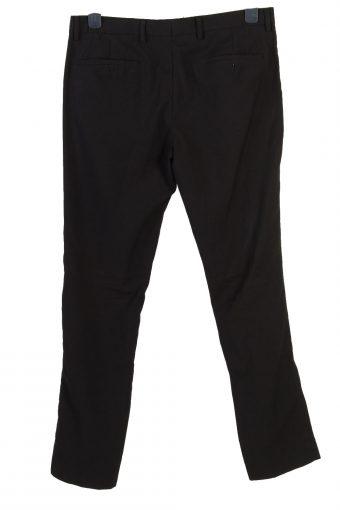 Vintage Cedar Wood State Skinny Fit Womens Pants Trousers W34 L32 Black J5031-130500