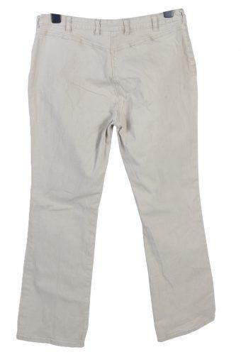 Vintage Eagle Boot Cut Womens Pants Trousers W36 L30 Cream J5038-130528