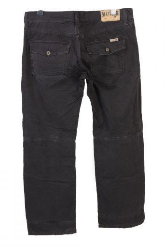 Vintage Mustang Straight Leg Unisex Trouser Jeans W39 L33 Black J5048-130568
