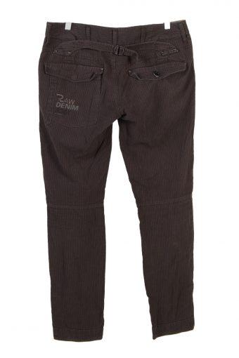 Vintage G-Star Striped Straight Womens Lightweight Jeans W33 L32 Brown J5071-130660