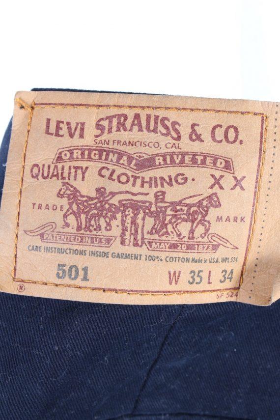 Vintage Levis 501 Straight Leg Unisex Lightweight Jeans W36 L30 Navy J5083-130709