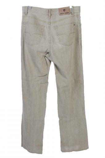 Vintage Pierre Cardin High Waist Straight Leg Unisex Lightweight Trousers W34 L33 Camel J5099-130772