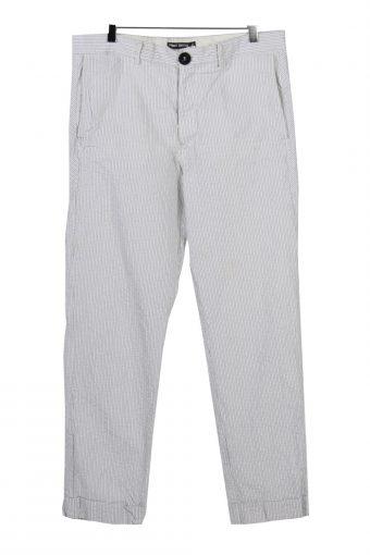 Filippa K Striped weight Trousers Mens White W34 L30