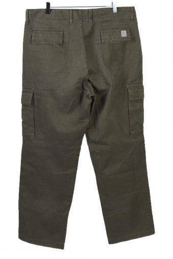 Vintage Mustang Mens Chinos Pilot Pants Trouser W37 L32 Khaki J5120-130855