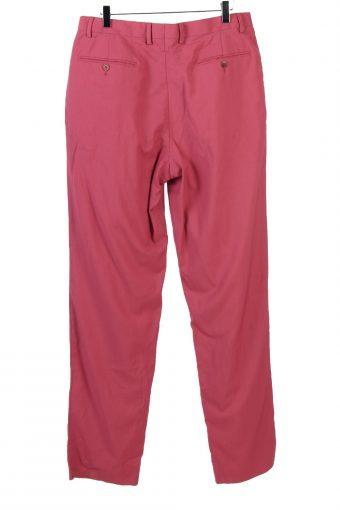 Vintage High Waist Womens Pants Slacks Trousers W33 L35 Pink J5123-130867