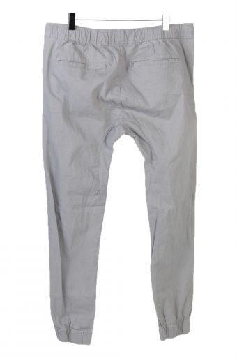 Vintage Urban Heritage Elasticated Waist Unisex Joggers Trousers Jeans W35 L30 Grey J5137-130923