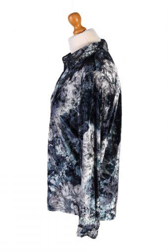 """Vintage Poala Womens Velvet Shirt Long Sleeve Chest 42"""" Multi LB305-131632"""