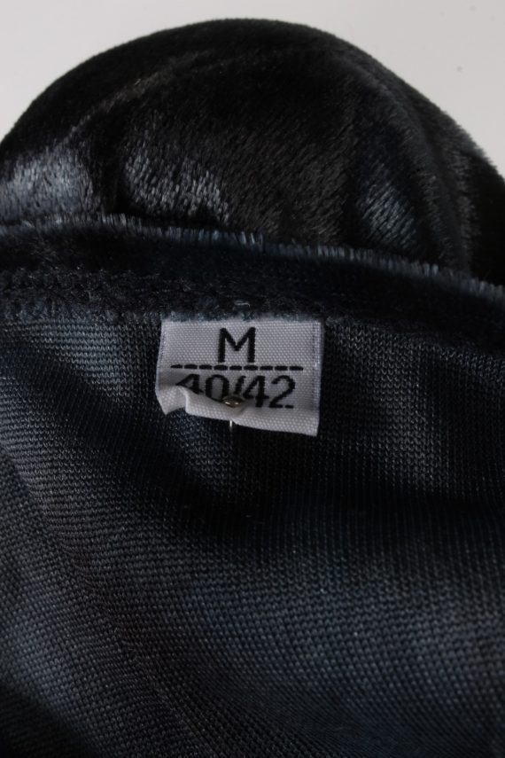 Vintage Womens Velvet Blouse Top Short Sleeve Size 40/42 Grey LB309-131650