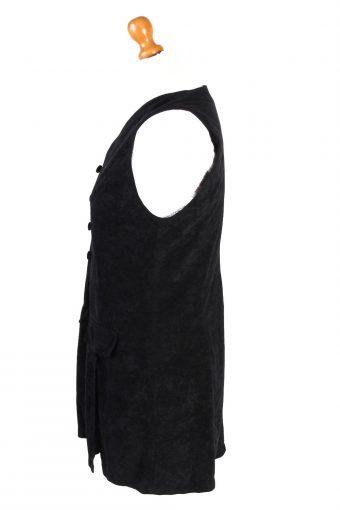 Vintage Womens Sleeveless Shirt Size 40 Black LB332-131740