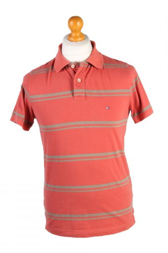 Tommy Hilfiger Polo Shirt 90s Retro Orange M