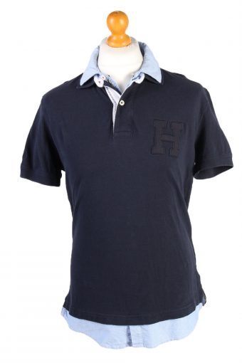 Tommy Hilfiger Polo Shirt 90s Retro Navy M