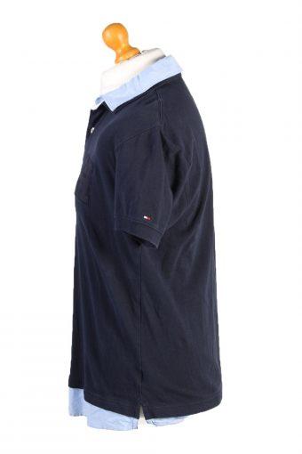 Vintage Tommy Hilfiger Polo Shirt Top Short Sleeve M Navy -PT1230-132432
