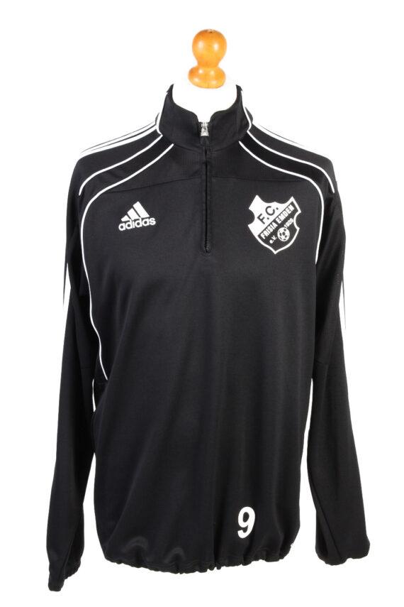Adidas Mens Half Zip Tracksuit Top FC Frisia Vintage Half Zip Size 42/44 Black -SW2553-0