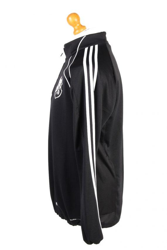 Adidas Mens Half Zip Tracksuit Top FC Frisia Vintage Half Zip Size 42/44 Black -SW2553-131276