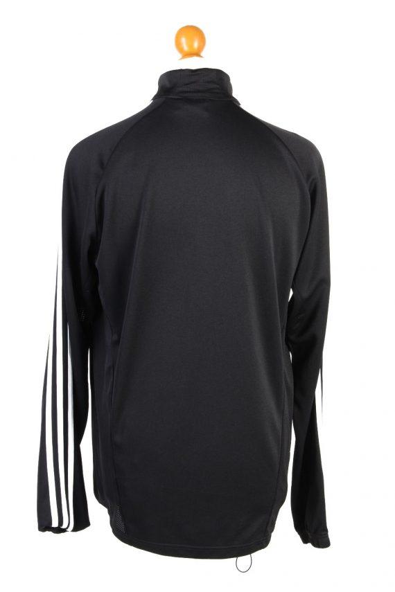 Adidas Mens Half Zip Tracksuit Top FC Frisia Vintage Half Zip Size 42/44 Black -SW2553-131277