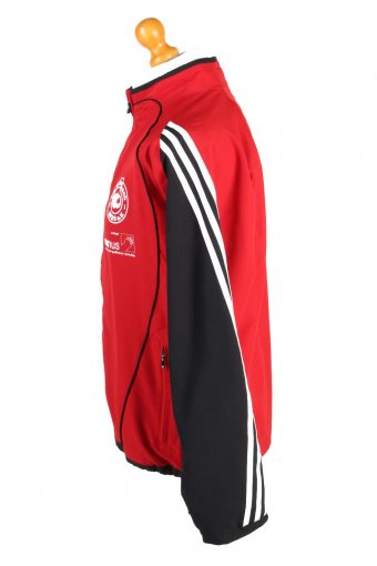 Adidas Mens Tracksuit Top TSV Ausbach Vintage Full Zip Lined Size 40/42 Red -SW2556-131288