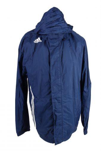 Adidas Waterproof Raincoat Festival Outdoor Jacket Navy XL