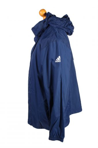 Vintage Adidas Waterproof Raincoat Festival Outdoor Jacket Unisex 44/46 Navy -SW2578-132797