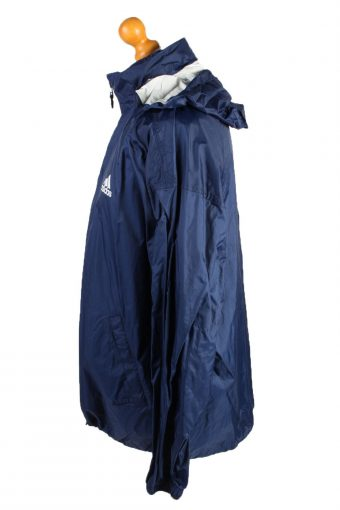 Vintage Adidas Waterproof Raincoat Festival Outdoor Jacket Unisex 42/44 Navy -SW2579-132801